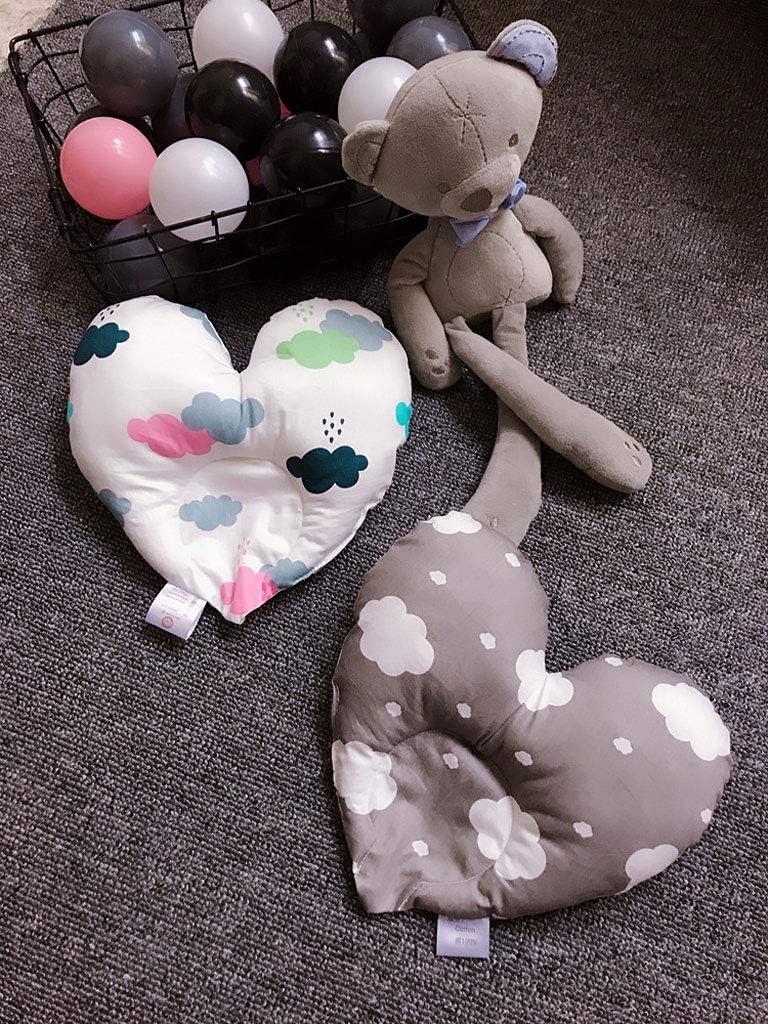 A YQ/&TL Baby Kissen 0-1 Jahre alt Kissen Baumwolle Neugeborenen Kissen Nettes Herz Kissen Anti-Erstickungs Orthop/ädische Schlafkissen Verhindern Anti-Kopf-Korrektur Kopf