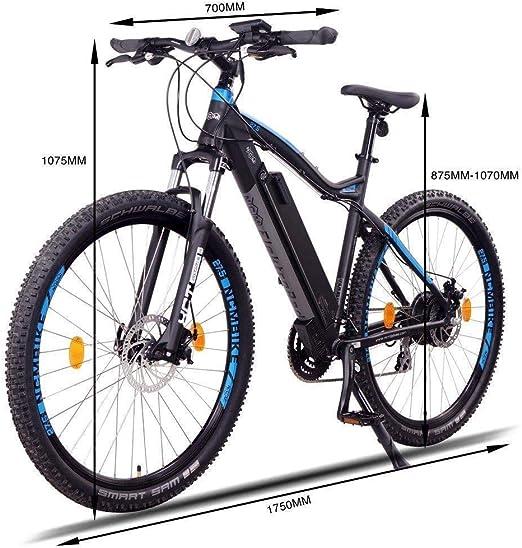 NCM Moscow Bicicleta eléctrica de montaña, 250W, Batería 48V 13Ah 624Wh (Negro 27,5