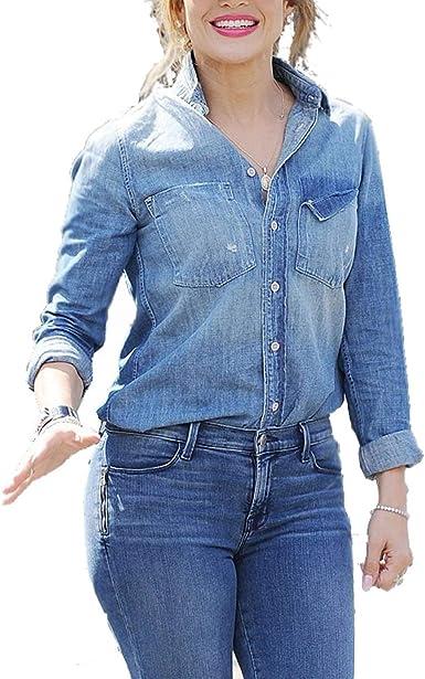 Mujer Camisa Jeans Y Otoño 2 Pantalon Largo Primavera Juegos ...