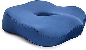Chair Cushion,YUOROS Seat Cushion Tailbone Pain Relief Cushion Coccyx Cushion Sciatica Pillow for Office Chair, Car, Wheelchair