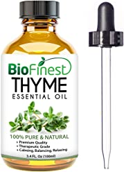 BioFinest Thyme Oil - 100% Pure Thyme Essential Oil - Premium Organic - Therapeutic Grade - Aromatherapy - Boost Memory - Helps to Balance Hormone - FREE E-Book and Dropper (100ml)