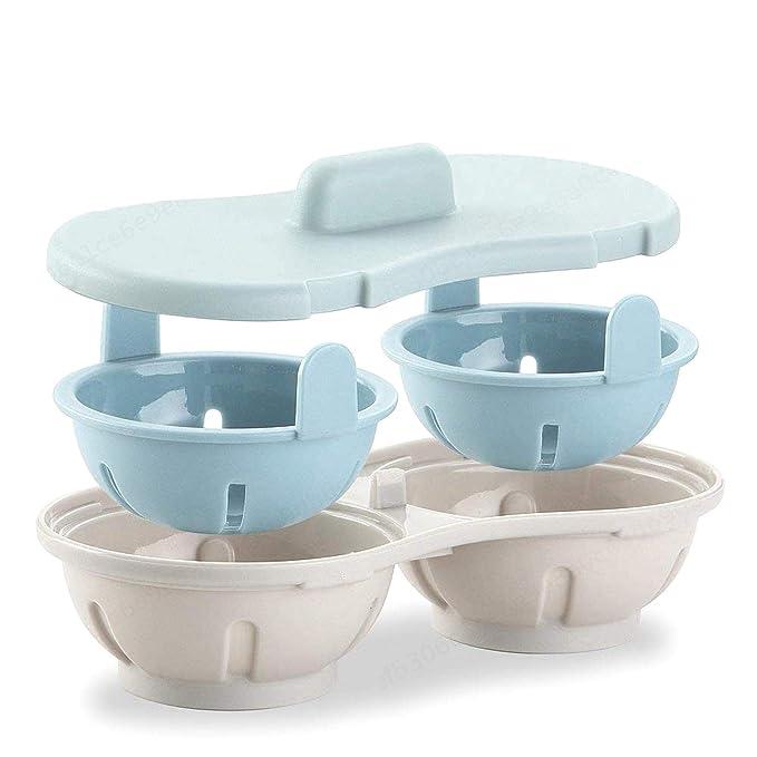 iMiMi - Escalfador de Huevos para microondas (Doble Taza ...