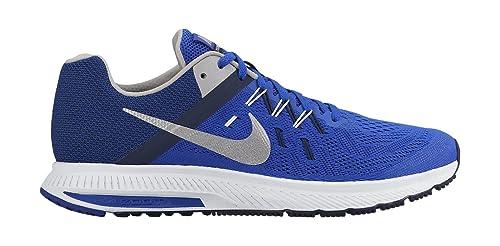 Nike Zoom Winflo 2, Zapatillas de Running para Hombre, Plata/Azul Marino/