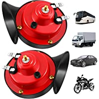 Waterproof Quadruple Snail Horns with Durable Lifetime BOOLACYA 2 Pcs 300DB Super Loud Train Horn 12V Horns with Stable Frequency More Clear Loud Horns for Motorcycle car Truck Train Boat