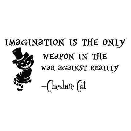 Wall Decals Quotes Alice In Wonderland Imagination Is The Only