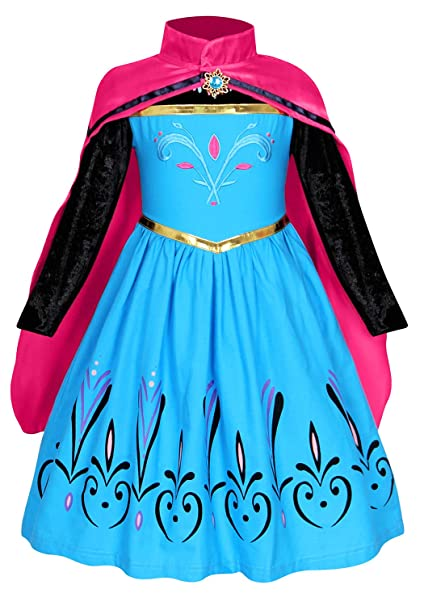 AmzBarley Elsa Princesa Vestido Disfraz Traje Niña Bebe ...