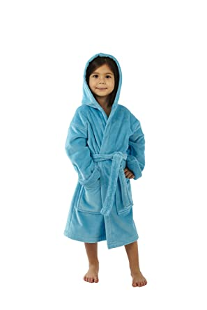96ddd9584129d Amazon.com: TurkishTowels Terry Velour Hooded Kids Beach or Pool ...