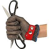 Schnittschutzhandschuhe, GOCHANGE Lebensmittelecht Schnittfeste Handschuhe, Sicherheit aus Edelstahl Metallgewebe Handschuh
