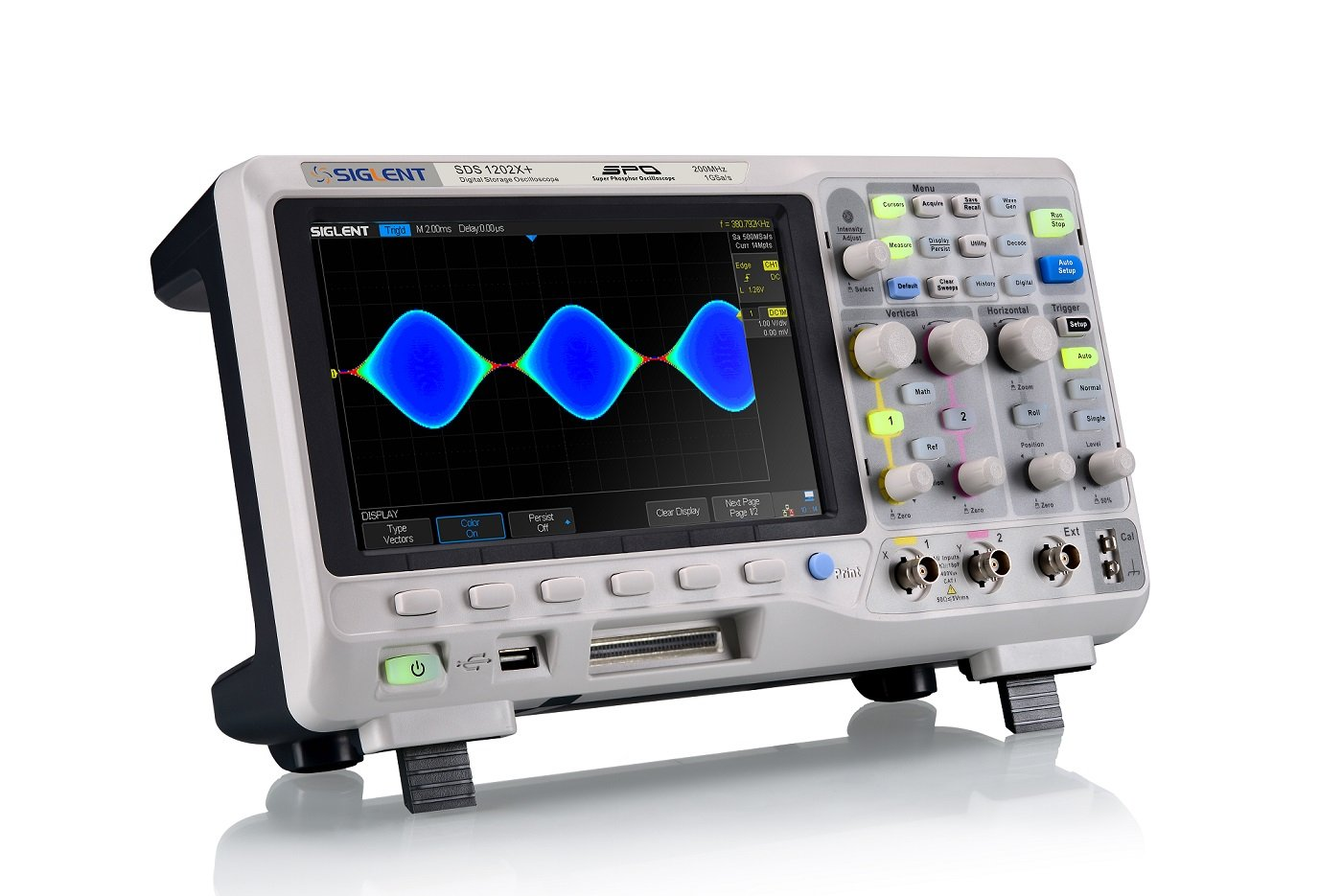 Siglent Technologies SDS1202X Digital Storage Oscilloscope, 200 MHz