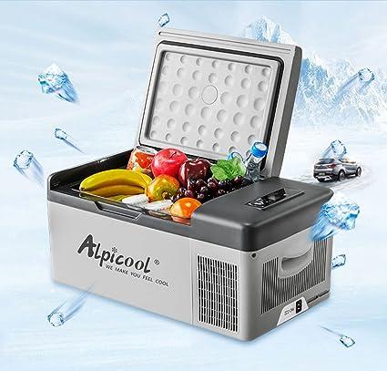 Alpicool - Nevera congelador portátil eléctrica con compresor para automóviles, camiones y caravanas, ideal para ir de viaje, pesca, pícnic, camping, ...