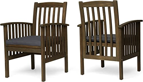 Great Deal Furniture Phoenix Acacia Patio Dining Chair