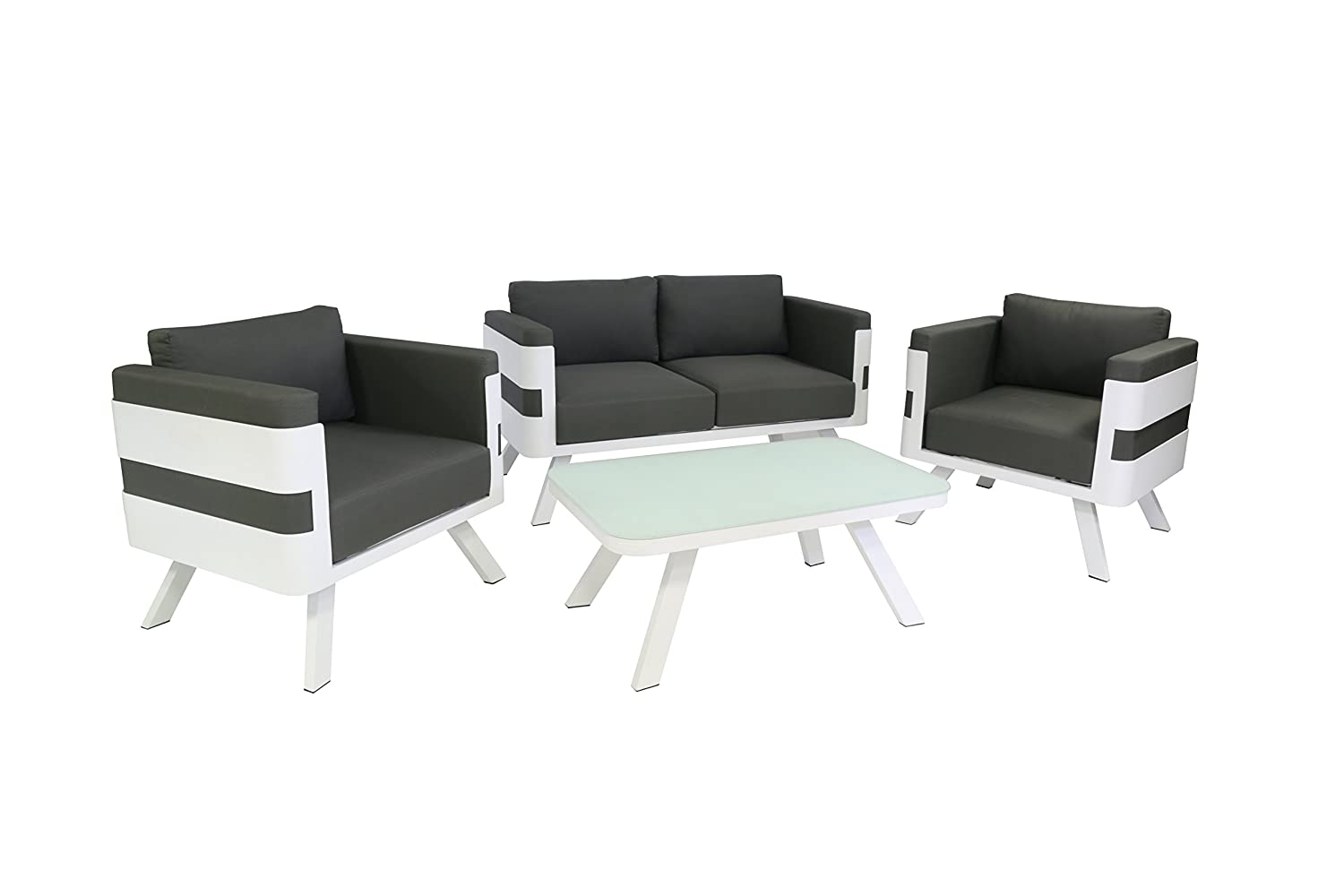 Garten Lounge Set Grau. Beautiful Polyrattan Gartenmobel Set ...