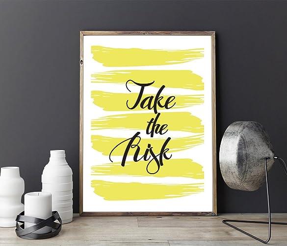 Amazon.com: Modern Typography Print \
