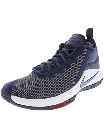 new concept d1738 761e8 Nike Men s Lebron Witness II College Navy College Navy-Team Red-White  Basketball