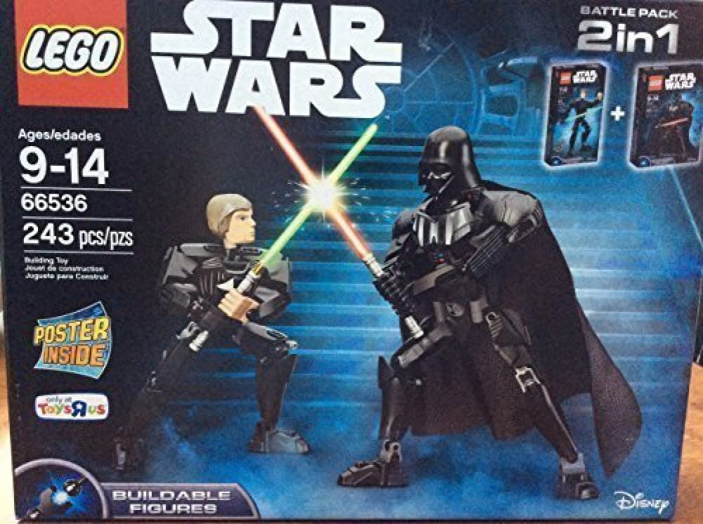 LEGO 66536 Buildable Darth Vader and Luke Skywalker Combo Pack