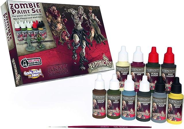 The Army Painter 🖌 | 🧟 Zombicide Black Plague Set | Set de Pinturas Zombicidio, Pack de 10 Unidades: Amazon.es: Juguetes y juegos