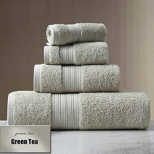 XIAOAOD Juego de Toallas de algodón Color sólido Toalla de baño ...