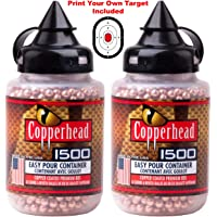 JustHangin' Copperhead 3000 Premium BBS Bundle - (2 Containers of 1500 Each), Model: 0730 Calibre 4.5mm, Made in The USA