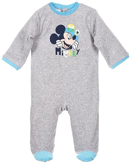 Pijama bebé niño Disney Mickey azul y gris de 3 a 23 meses gris gris/