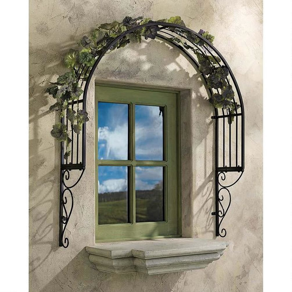 Design Toscano Thornbury Ornamental Metal Garden Window Trellis - Set of 2 FZ91579