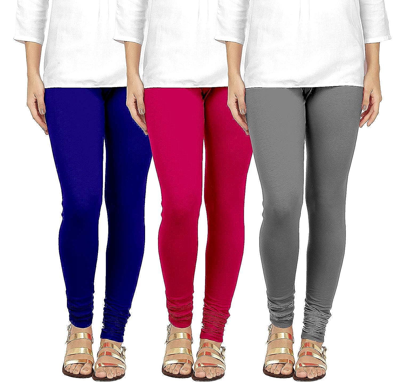 Indistar Big Girls Premium Cotton Churidar Full Ankle Length Legging/_Maroon/_16-17 Years