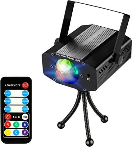 coidea LED Iluminación de discoteca - Proyector de luz 9 W 7 ...