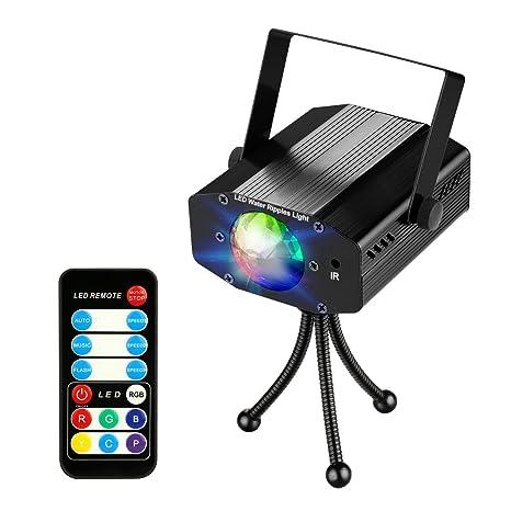 Mini Proiettore Effetto Luci Laser Per Disco Discoteca Dj.Coidea Disco Lighting Proiettore A Led Da 9 Watt 7 Colori Oceano
