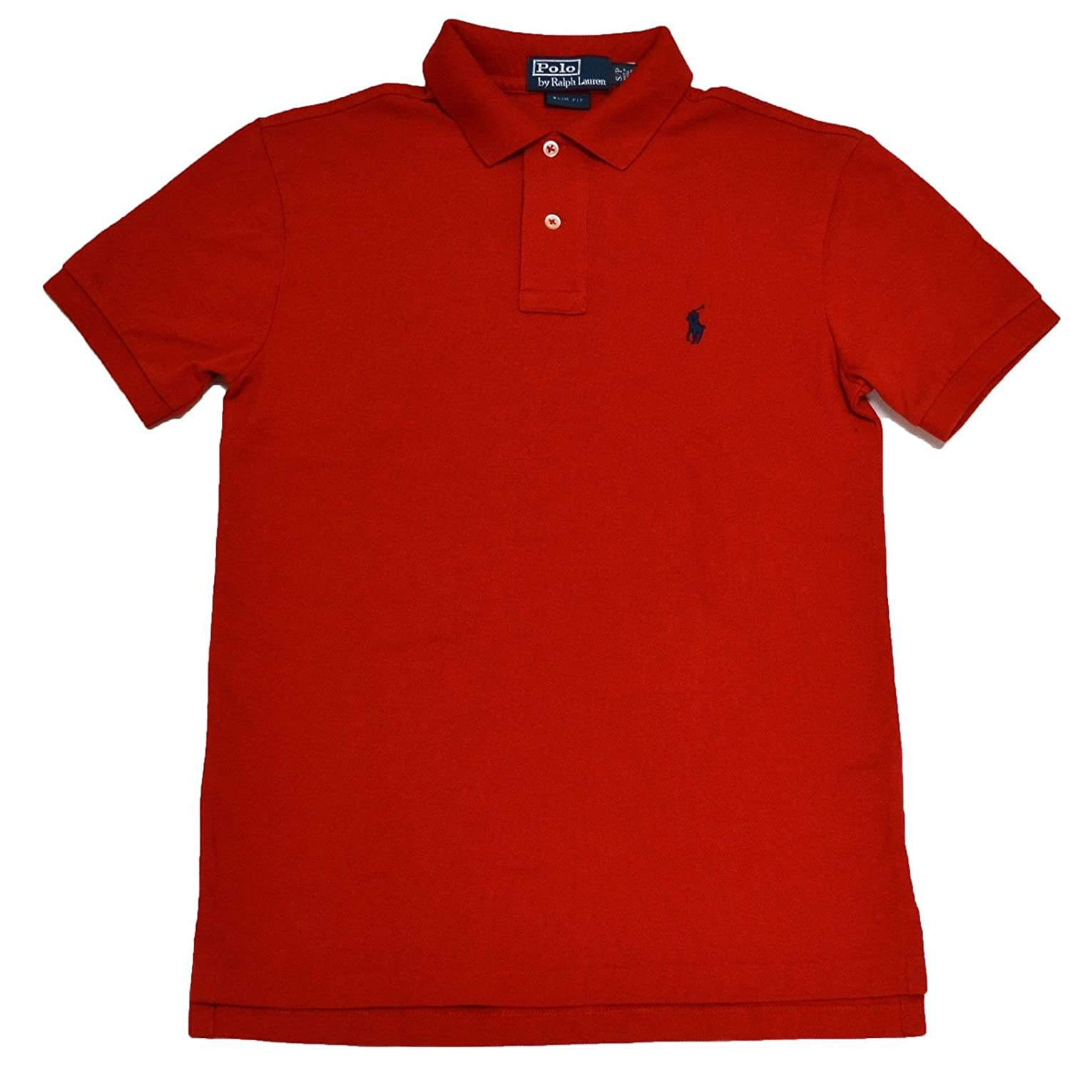 Polo Ralph Lauren Slim Fit Pique Mesh Polo Shirt (RL Red 7ab9c1236