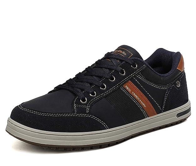 AX BOXING Zapatillas Hombres Deporte Running Sneakers Zapatos para Correr Gimnasio Deportivas Padel Transpirables Casual 42 EU, A9099-Negro