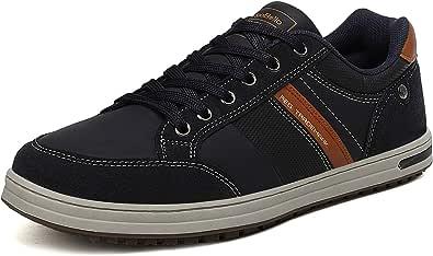 AX BOXING Zapatos Hombre Vestir Casual Zapatillas Deportivas Running Sneakers Corriendo Transpirable Tamaño 40-46 (Azul Z 0257, Numeric_41)