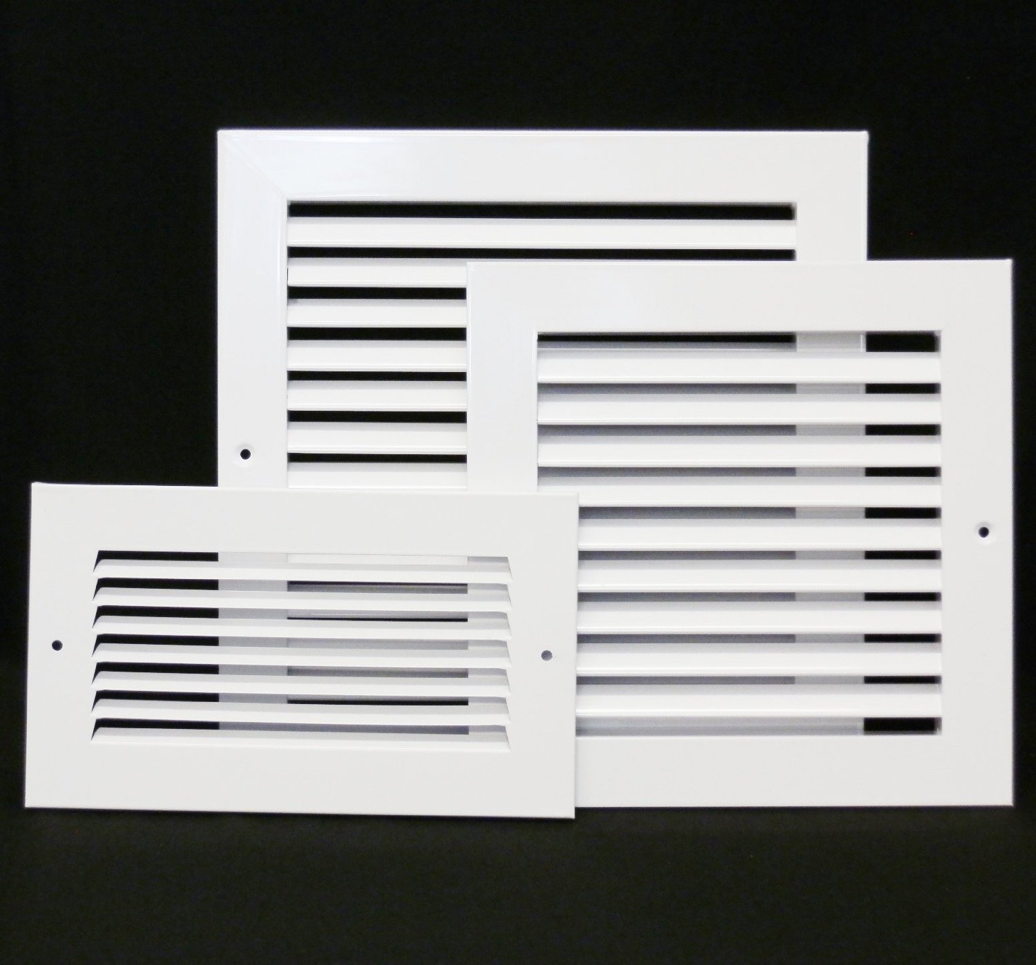 30'' X 14 Steel Return Air Filter Grille for 1'' Filter - Removable Face/Door - HVAC DUCT COVER - Flat Stamped Face - White [Outer Dimensions: 32.5''w X 16.5''h] by HVAC Premium (Image #5)