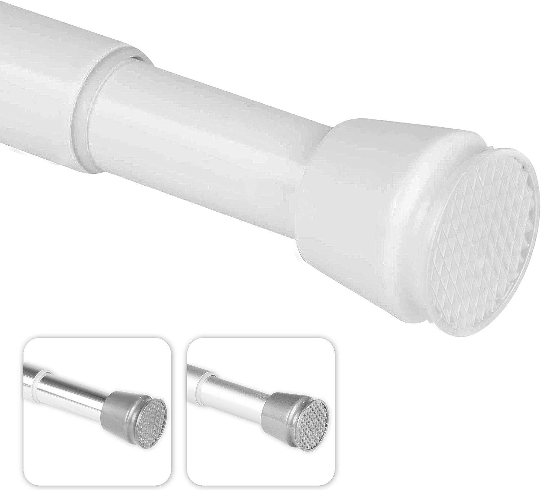 Sin taladrar Barra telesc/ópica bomoe Barra para Cortina de Ducha Regulable Neptun tambi/én Barra de Ropa Aluminio 55-90 cm