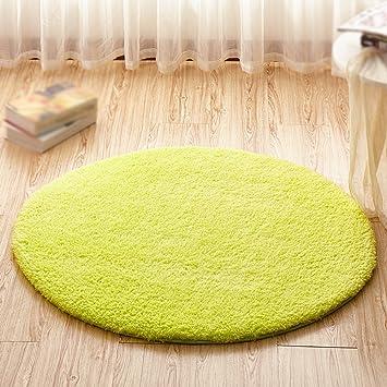 Runde Teppich grün runde teppich computer stuhl matte drehstuhl korb