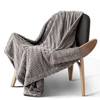 Amazon.com  Bedsure Faux Fur Reversible Fleece Throw Blanket – Super ... cf29c1c86