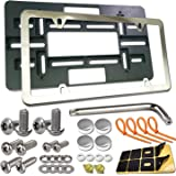 Aootf Front License Plate Bracket- Universal Front Bumper Plate Mounting Kit, Car Tag Holder Adapter& Stainless Steel…