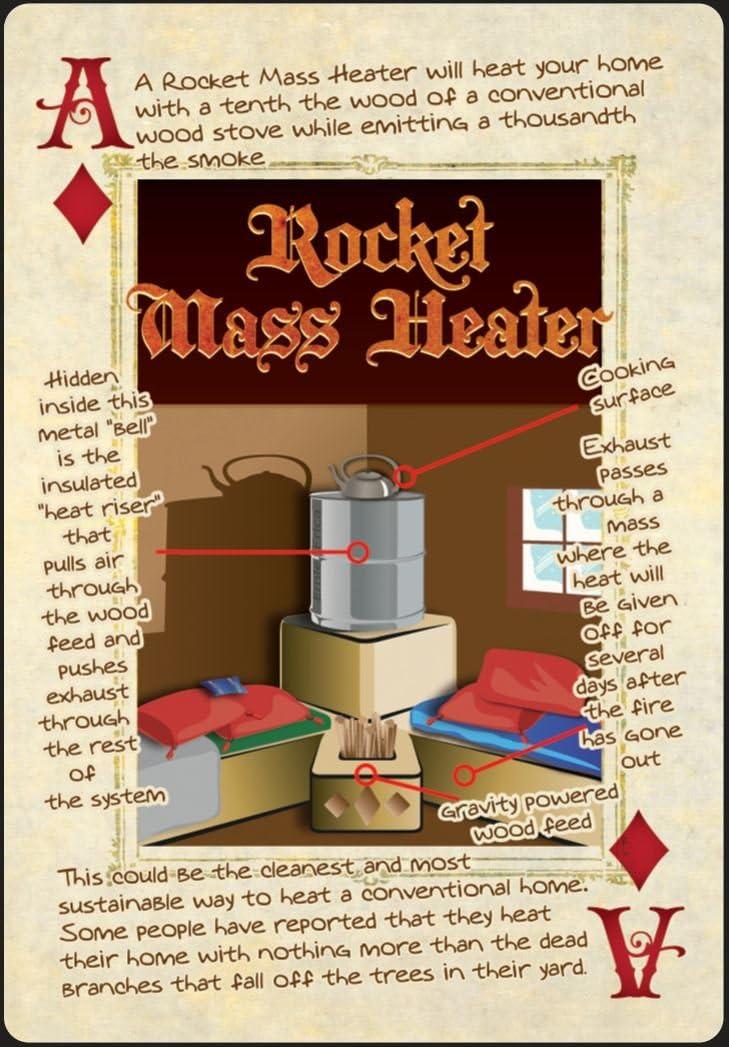 rocket mass heater playing card