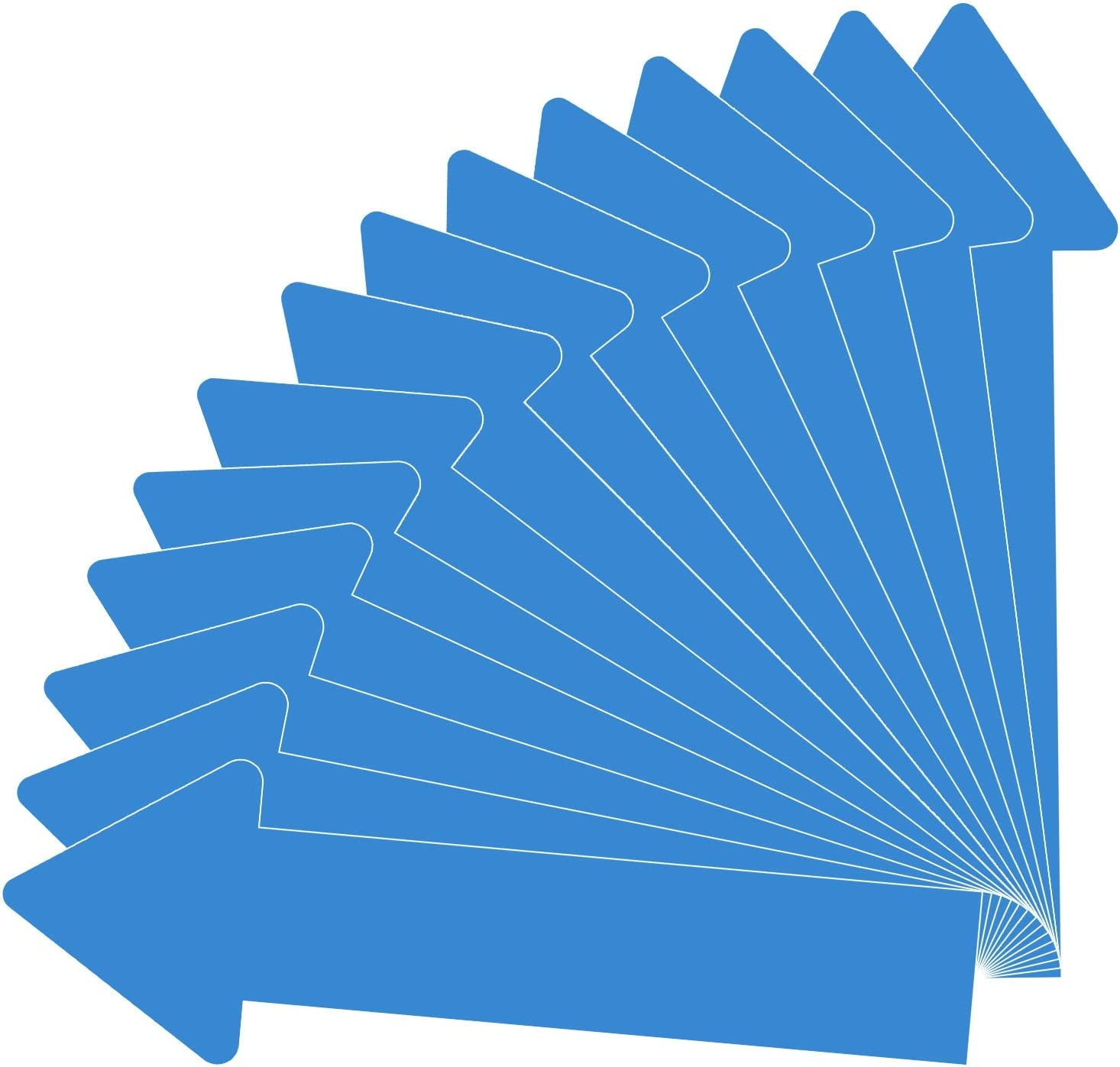 Blue 30 Pack 12 Inch Arrow Decals Stickers for Floor Wall Removable Adhesive Arrow Decal Commercial Grade Waterproof Arrow Sign