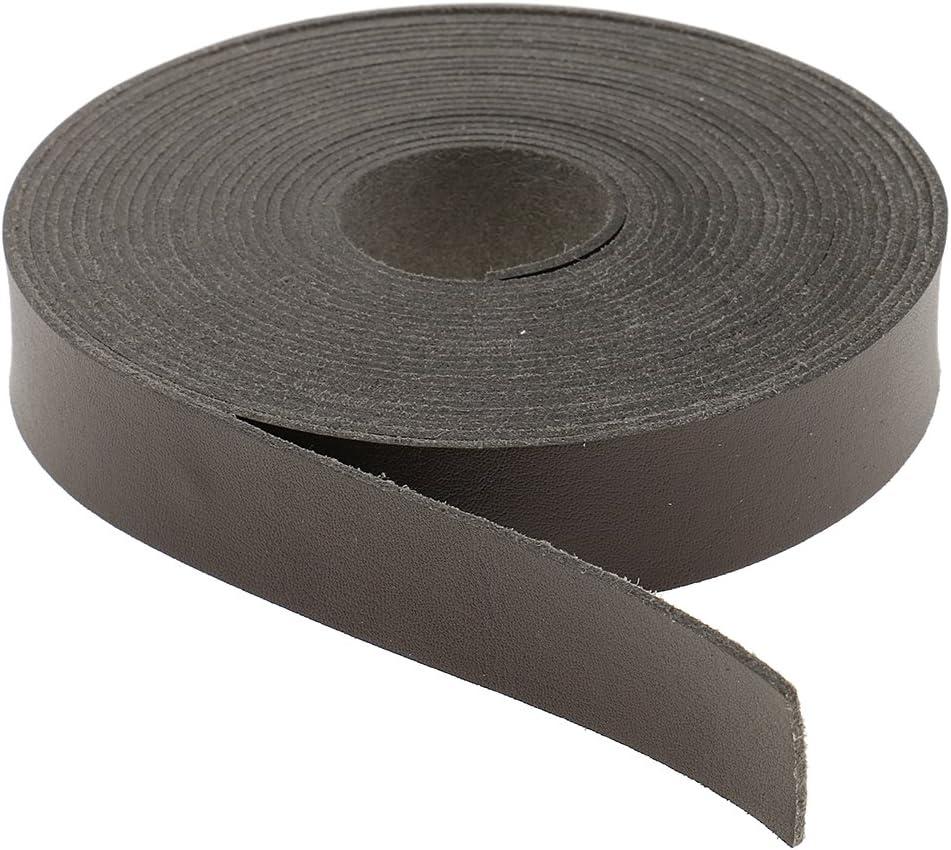 chiwanji 2 Pezzi 5 Metri X 2 Cm Strisce di Cinturini in Pelle per Materiale da Cintura Artigianale in Pelle