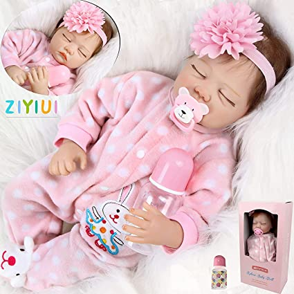 18/'/' Realistic Reborn Doll Soft Silicone Vinyl Newborn Baby Girl Dolls Xmas Gift