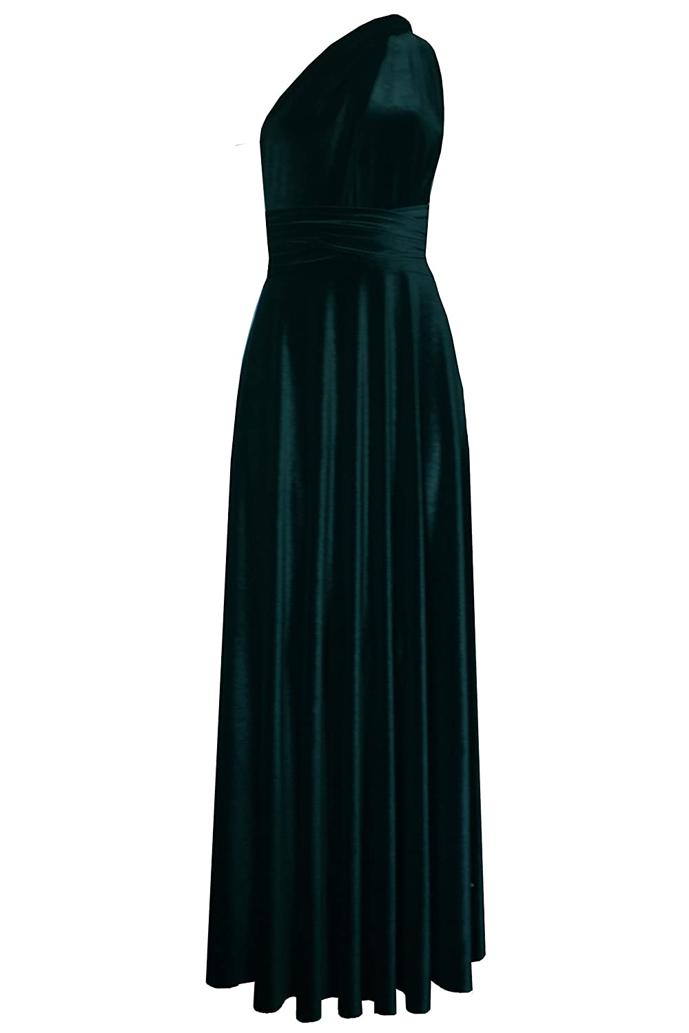Dark Teal E K Infinity Velvet Dress Congreenible bridesmads Gown Plus Size Multi wrap