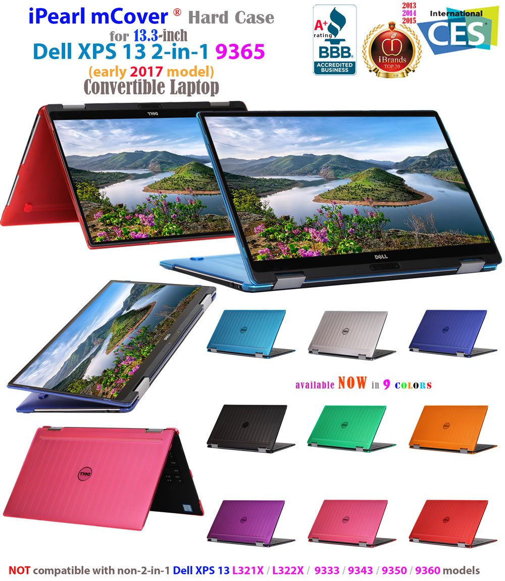not Fitting Non 2-in-1 XPS 13 Models mCover iPearl Hard Shell Case for 13.3 Dell XPS 13 9365 2-in-1 Models Purple Convertible Laptop 2-in-1 9365