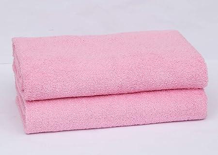 2 o 4 toallas de baño, 600 g/m², 100% algodón, calidad de hotel, super suave, muy absorbente, toalla de baño., algodón, Rosa, 2 PC: Amazon.es: Hogar