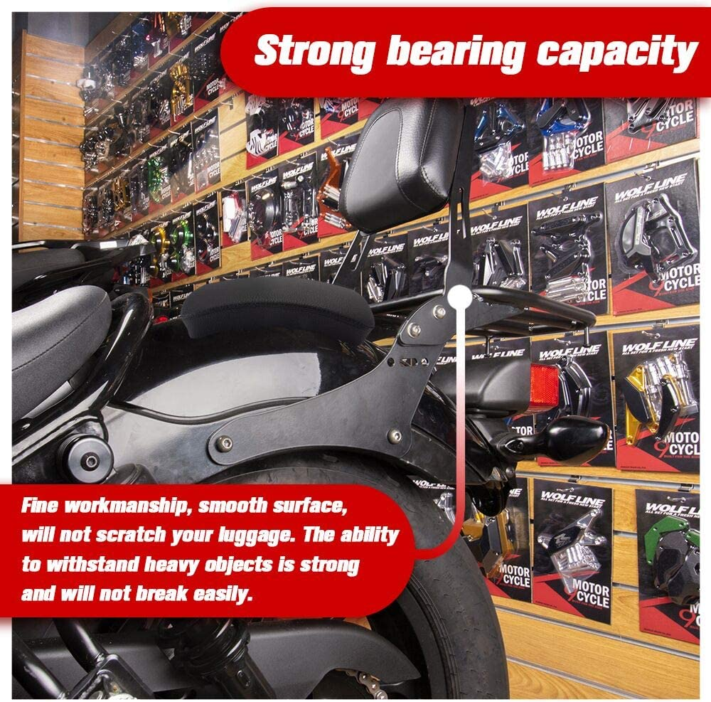 Lorababer Motorcycle Rear Passenger Cushion 6 Suction Cups Pillion Pad and Detachable Passeneger Sissy Bar backrest with Rear luggage rack for H-o-n-d-a CMX 300 CMX 500 2019 2020 1 full set