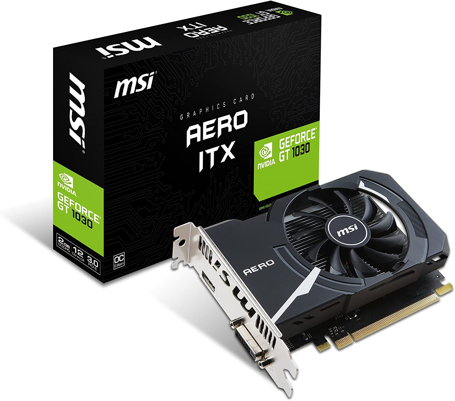 MSI Single Fan Short Foundation with graphics cards GeForce GT 1030 aero ITX, G OC