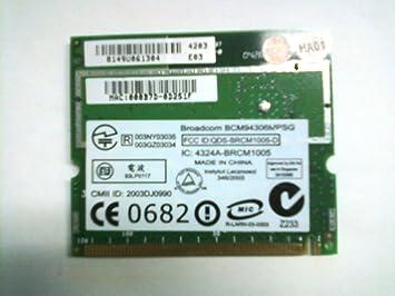 Amazon.com: Broadcom bcm94306mpsg tarjeta de Wifi portátil ...