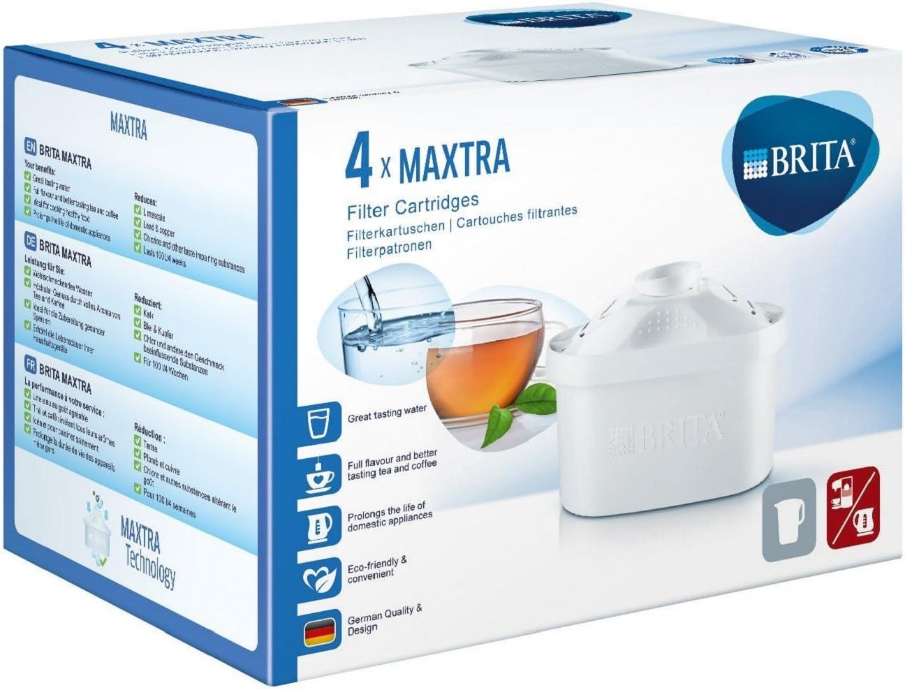 BRITA 208885 Cartucho de filtrado para el Agua, Paquete de 4 ...