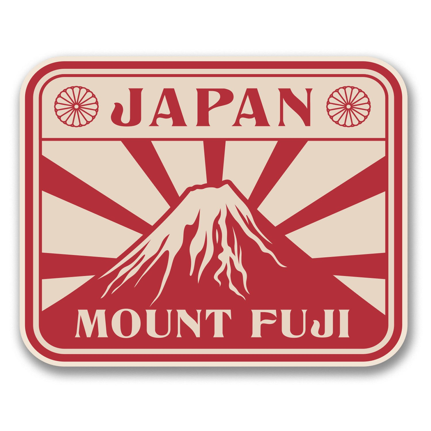 2 x Japan Mount Fuji Vinyl Sticker Laptop Travel Luggage Car #6391