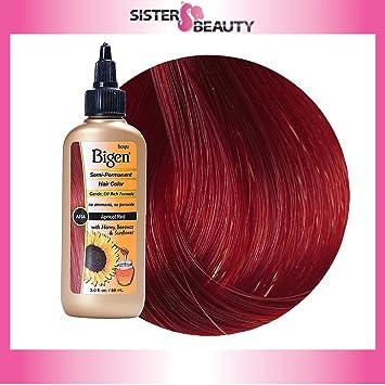 Amazon Com Bigen Semi Permanent Hair Color Apricot Red 3 0 Ounce
