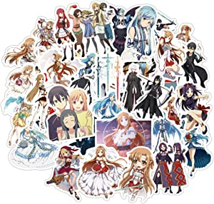 50 Pcs Funny Non-Duplicate Vinyl Stickers for Sword Art Online(SAO), Stickers for Kids Boys Girls Adults Teens, Cool Waterproof Decals Stickers Pack for Laptop Waterbottle MacBook Flasks Phone Bike.