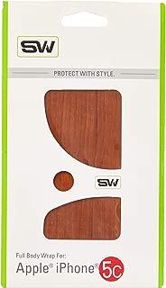 product image for Slickwraps Wood Series Protective Film for iPhone 5c - Teak - Skin - Retail Packaging - Teak